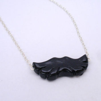 Mustache Polymer Clay Necklace Clay Miniatures