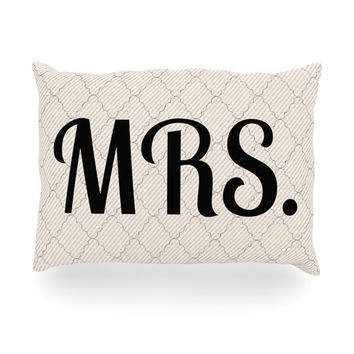"KESS Original ""MRS"" Oblong Pillow"