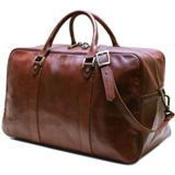 Siena Italian Leather Trunk Duffle Bag