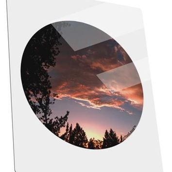 Forest Sunset Metal Panel Wall Art Portrait - Choose Size by TooLoud