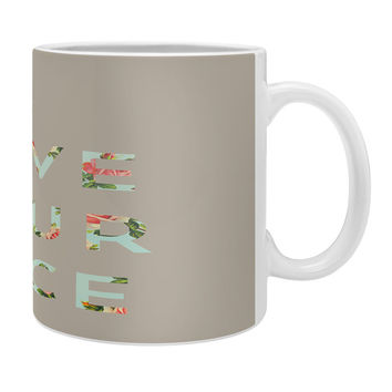 Allyson Johnson Floral I Love Your Face Coffee Mug