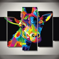 Colorful Giraffe Abstract