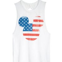 Americana Mickey Mouse Tank - White