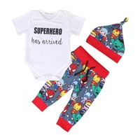 """SUPERHERO Has Arrived"" Cartoon Outfit"