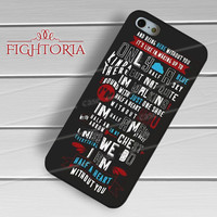One Direction Lyric Half a Heart -3 for iPhone 4/4S/5/5S/5C/6/6+,samsung S3/S4/S5/S6 Regular/S6 Edge,samsung note 3/4