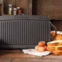 The Pioneer Woman Timeless Cast Iron Pre-Seasoned Reversible Grill/Griddle, Black - Walmart.com