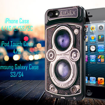 Vintage rolleiflex camera Samsung Galaxy S3/ S4 case, iPhone 4/4S / 5/ 5s/ 5c case, iPod Touch 4 / 5 case