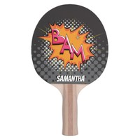 Half Tone BAM! Superhero Personalized Paddle