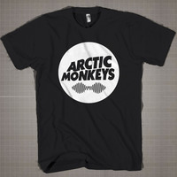 ARCTIC MONKEYS circle  Mens and Women T-Shirt Available Color Black And White