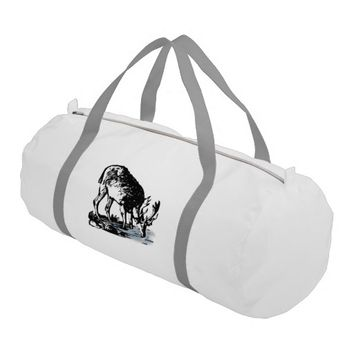 Moose in Stream Gym Bag