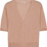 Miu Miu | Cropped cashmere and silk-blend cardigan | NET-A-PORTER.COM