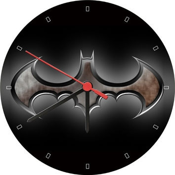Batman Logo Wall Clock (Size: 20cm by 20cm) = 1927808644