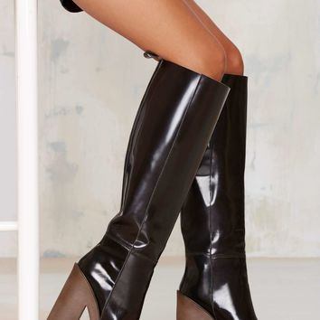 Stiù Cindy Patent Leather Platform Boot