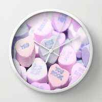Valentine's Day Heart Candy Wall Clock by Lilkiddies