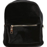 Velvet Mini Backpack - Black