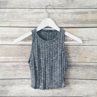 Hallie Ribbed Crop Tank
