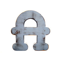 Capital Letter A (Pictured In sky) Home Decor Large Wooden Letters Wedding Guest Book Kids Room Nursery Photo Prop Shabby Chic