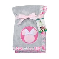 "Minnie Mouse Soft Applique Blanket. Pink. 30"" x 30"""