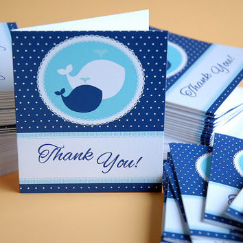 Nautical Baby Shower Thank You Cards + Envelopes + 60 ct