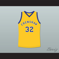 Monica Wright 32 Crenshaw High School Yellow Basketball Jersey Love and Basketball