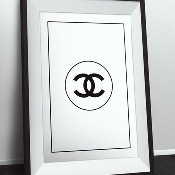 Coco Chanel Logo Poster,Coco Chanel design, Coco Chanel Fashion Print, wall Art, Home Decor, Wall Decoration, Coco Chanel Wall poster