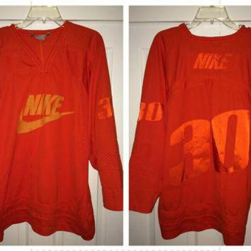 VLX9RV Sale!! Vintage NIKE American Football / Hockey Jersey Retro NFL NHL tee shirt