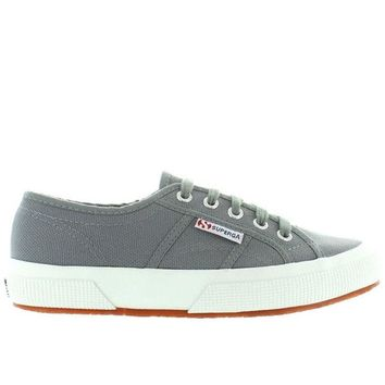 ONETOW Superga 2750 COTU Classic - Grey Canvas Lace-Up Sneaker