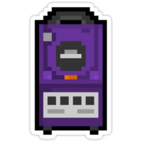 "Pixel ""GameCube"" Sticker"