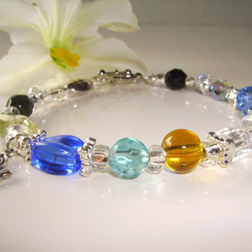 Memorial Bracelet, Each bead represents part of included poem. Loved ones birthstone can be added.