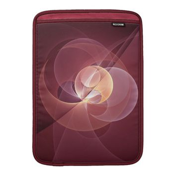 Movement Abstract Modern Wine Red Pink Fractal Art MacBook Air Sleeve