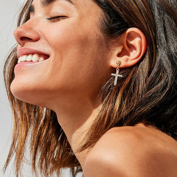 Frasier Sterling Earth Angel Earring | Urban Outfitters