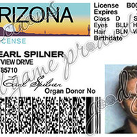The Fast and The Furious - Brian Spilner (Paul Walker) Driver's License - Printed/Laminated