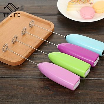 TTLIFE New Coffee Milk Drink Electric Whisk Mixer Frother Foamer Egg Beater Electric Mini Handle Mixer Stirrer Kitchen Tool hot