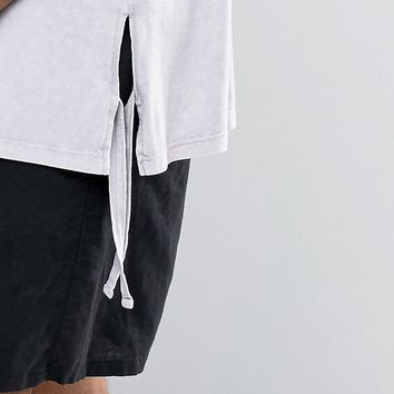 ASOS | ASOS Super Longline T-Shirt With Extreme Side Splits And Tie Sides at ASOS