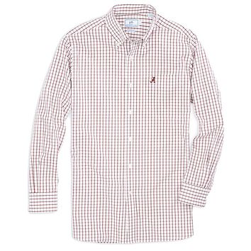 University of Alabama Gameday Tattersall Sport Shirt in Crimson by Southern Tide