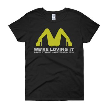 Stag Do Mcdonalds Drinking Beer Women'S T Shirt