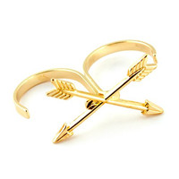 Double Finger Ring, Arrow Two Finger Ring