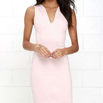 Quite Spectacular Blush Midi Dress