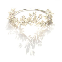 Silver Hair Vine, Bridal Headpiece, Silver Wedding Hairband, Bohemian Bridal Headpiece, Silver Hair Wreath, Wedding Tiara, Romantic, Forest