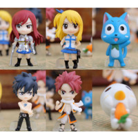 Fairy Tail NEW SET 6PCS MINI FIGURES