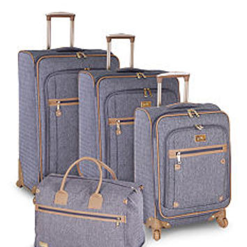 Nicole Miller Taylor Luggage Collection - Gray - Belk.com