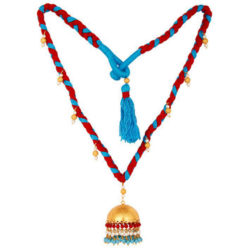White Pearl Coral and Turquoise Indian Handcrafted Traditional Necklace