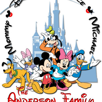 Personalized Disney Vacation Family Shirts T-shirt Mickey Minnie Very Cute! #7