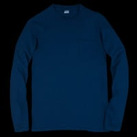 UNIONMADE - Velva Sheen - Tubular Long Sleeve Pocket Tee in Navy