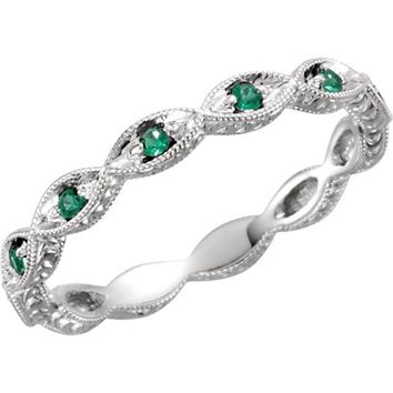 Emerald Gemstone Eternity Band - Sala