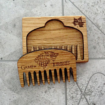 Game of Thrones Beard Comb Personalized Wood Mustache Comb Groomsmen gift for dad Gift for him Gifts for boyfriend Valentine gifts for men