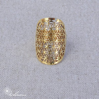 Flower Of Life Ring | Sacred Geometry Ring | Brass Jewelry | Flower Of Life Jewelry | Perfect Gift