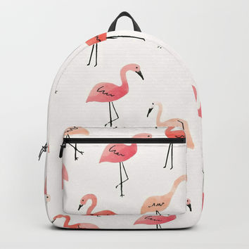 Flamingo Fun Backpack by allisone