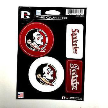 Florida State Seminoles FSU Quatro Decal Sheet Die Cut Bumper Sticker University