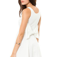 Reverse Dress Bow Back in White